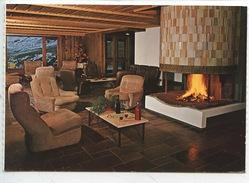 Combloux : Hotel Restaurant Aux Ducs De Savoie - Salon âtre Cheminée (cp Vierge) - Combloux