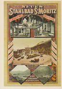 (CH1046) CPM. NEUES STAHIBAD ST MORITZ 1885 ... UNUSED - GR Graubünden