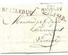 Enkelvoudige Grensoverschrijdende Zaken Vouwbrief  BOIS Le DUC - FRANCOMONT   12-02-1811  Code 00413a - 1794-1814 (Französische Besatzung)