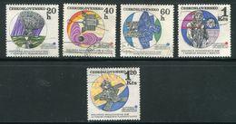 TCHECOSLOVAQUIE- Y&T N°1814 à 1818- Oblitérés - Space