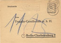 Allemagne Fédérale 1959 - Imprimé De Singen à Berlin - Commande Au  Docteur Schulze/Laboratoirepharmaceutique/Fregalin - [7] Repubblica Federale