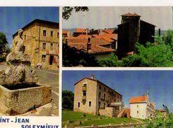 42 ST JEAN SOLEYMIEUX Fonaine Tour De La Gabelle Batiments Administratifs Et Mairie - Saint Jean Soleymieux
