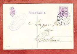 P 167 II Koenig Christian, Soenderborg Nach Berlin 1921 (44922) - Entiers Postaux