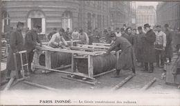 75-PARIS-Inondations 1910-Le Génie Construisant Des Radeaux...  Animé - Paris Flood, 1910