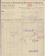 Gunther ,papeterie Et Tuberie à Fontaine-les-Luxeuil , Haute-Saône ,facture De 1947 - France
