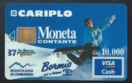 VISA CASH MONETA CARIPLO Bormis 37eme Ski Meeting Interbancario CB MONEO Visacash - Sport