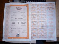 CB11 Titre De 10 Actions FN Herstal Fabrique Nationale  Etat Très Propre 1989 - Industrie