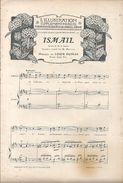 """Partition Concours Pour Le Grand Prix De Rome Cantate """"Ismail""""  Chanté Par M MURATORE Musique Louis DUMAS - Partituras"""