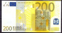 Euronotes 200 Euro 2002  UNC < X >< E001 > Germany Trichet Super Price!!! - EURO