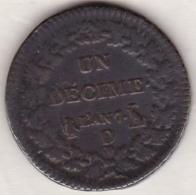Directoire Consulat . Un Decime L'An 7 D LYON - France