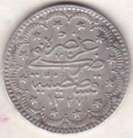 TURQUIE . 5 KURUSH AH 1327 ANNEE 1 (1909) . MUHAMMAD V. ARGENT - Turquie
