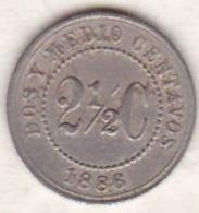 Colombie . 2 1/2 Centavos 1886 . Copper-nickel .KM# 182 - Colombie