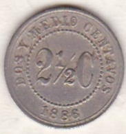 Colombie . 2 1/2 Centavos 1886 . Copper-nickel .KM# 182 - Colombia
