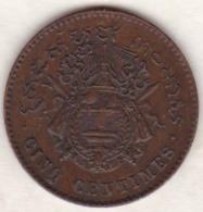 Cambodge, 5 Centimes 1860 Norodom Ier. Lec. 14. SUP/XF - Cambodge