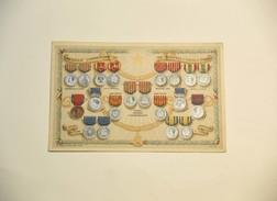 Cartolina Medaglie Commemorative Indipendenza E Unità D'italia - Militari