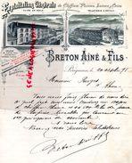 24 - PERIGUEUX -RARE LETTRE MANUSCRITE SIGNEE- BRETON AINE & FILS- 1898-EXPLOITATION CHIFFONS PLUMES LAINES -PELLETERIE - 1800 – 1899