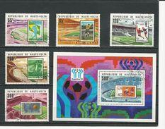 HAUTE-VOLTA  Scott 456-460, 461 Yvert 444-448, BF9 (5+bloc) O Cote 4,00$ 1977 - Haute-Volta (1958-1984)