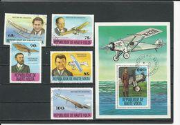 HAUTE-VOLTA  Scott 462-466, 467 Yvert 449-453, BF10 (5+bloc) O Cote 3,30$ 1978 - Haute-Volta (1958-1984)