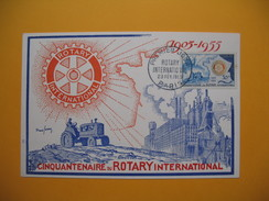 Carte Maximum   N° 975  Cinquantenaire Du Rotary International  1955 - Cartoline Maximum