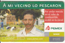 MEXICO - Pemex($30), Chip GEM3.3, Used - Mexico