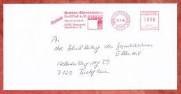 Drucksache, Pitney Bowes E22-0160, Gustav-Stresemann-Institut, 50 Pfg, Bergisch Gladbach 1988 (44945) - Poststempel - Freistempel