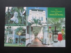 AK The Original Singapore Sling Raffles Hotels. Cocktails / Beefeater. Mehrbildkarte - Hotels & Gaststätten