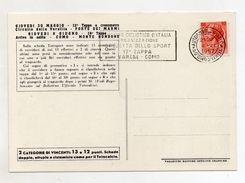 Italia - 1957 - 40° Giro Ciclistico D'Italia -17^ Tappa - Varese-Como - Con Annullo PT Ambulante - (FDC7280) - Cyclisme