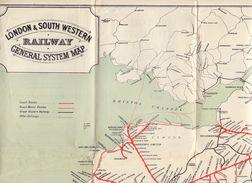 Map Kaart Carte Spoorwegen - Chemins De Fer - London & South Western Railway - - Cartes