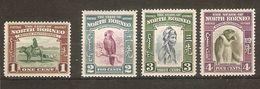 NORTH BORNEO 1939 SET TO 4c SG 303/306 MOUNTED MINT Cat £35.75 - North Borneo (...-1963)