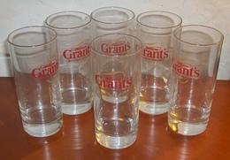 LOT DE SIX VERRES TUBE A WHISKY POUR LA MARQUE WILLIAM  GRANT'S - Glasses