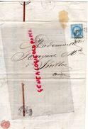 24 -PERIGUEUX- RARE LETTRE MANUSCRITE SIGNEE URBAIN DESVERGNES-MARCHAND DE FER ET SEL-1869 A MLLE RAYNAL JUILLAC - 1800 – 1899