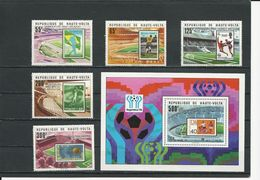 HAUTE-VOLTA  Scott 486-490, 491 Yvert 470-474 BF13 (5+bloc) ** Cote 11,35$ 1979 Surcharges - Haute-Volta (1958-1984)