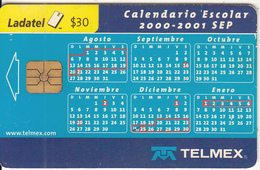 MEXICO - Calendar 2000-2001, Used - Mexico