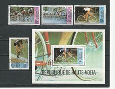 HAUTE-VOLTA  Scott C258-C261, C262 Yvert PA225-PA228 BF16 (4+bloc) O Cote 4,35$ 1979 - Haute-Volta (1958-1984)