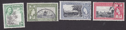 Jamaica, Scott #154-156, 158, Used, Royal Visit, Jamaica As A British Territory, Issued 1953-55 - Jamaica (...-1961)