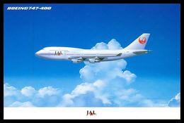 AIRPLANES - MODERN ERA - «JAL » BOEING 747-400. Carte Postale - 1946-....: Moderne