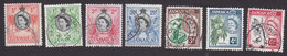 Jamaica, Scott #159-164, 166, Used, Queen Elizabeth And Industry Of Jamaica, Issued 1956 - Jamaica (...-1961)