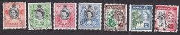 Jamaica, Scott #159-164, 166, Used, Queen Elizabeth And Industry Of Jamaica, Issued 1956 - Jamaïque (...-1961)