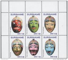 SURINAME, 2015, MNH, MASKS,6v - Other