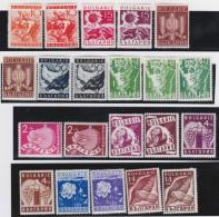 Bulgaria  .     Yvert    299/318       .          *     .      Ongebruikt   .   /   .     Mint-hinged - 1909-45 Royaume