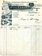 Etablissements D'horticulture Robert FERON, Ingénieur Horticoles, GARCHES, Grande Rue N° 227, Et Rue Civiale N° 4, 1936 - F. Arbres & Arbustes