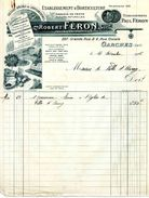 Etablissements D'horticulture Robert FERON, Ingénieur Horticoles, GARCHES, Grande Rue N° 227, Et Rue Civiale N° 4, 1936 - F. Trees & Shrub