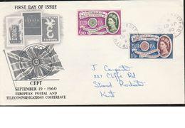 Europa CEPT FDC Cover United Kingdom Great Britain 1960 - 1960