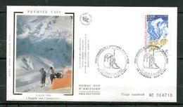 2000 FRANCE  FDC 1ER JOUR SUR SOIE ALPINISME ANNAPURNA PREMIER 8000 - Other