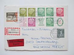 BRD 1955/ 64 Heuss I Zusammendrucke Aus MH 2 Eilbrief / Einschreiben! R1 / R2 / R3 Hoher Katalogwert! Sauber Gestempelt! - BRD