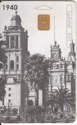 MEXICO - Catedral Metropolitana 1940, Chip Siemens 35, Used - Mexico