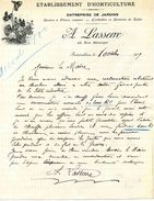 Etablissement D'horticulture Et Entreprise De Jardins A. LASSERRE, Fontainebleau, 43 Rue Béranger, 1919 - Agriculture