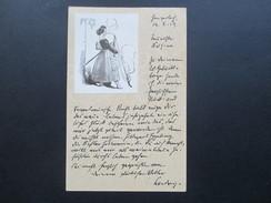 DR GA 1919 Selbstgestaltete Karte. Judenstern / Judaika Frau Mit Langer Pfeife! Jüdische Frau?!? - Jewish
