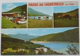 MASSA CARRARA - Comano - Passo Del Lagastrello - 4 Vedute - Auto VW Maggiolino - Cavalli - 1974 - Massa