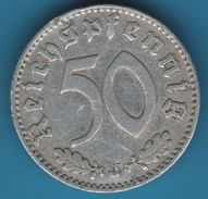 DEUTSCHES REICH 50 REICHSPFENNIG 1935 J KM# 87 - [ 4] 1933-1945: Drittes Reich